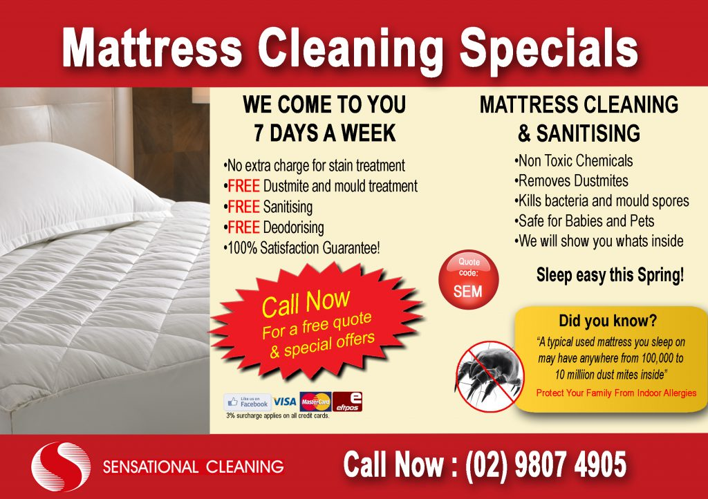 Sydney Mattress Cleaning and Sydney Mattress Cleaners