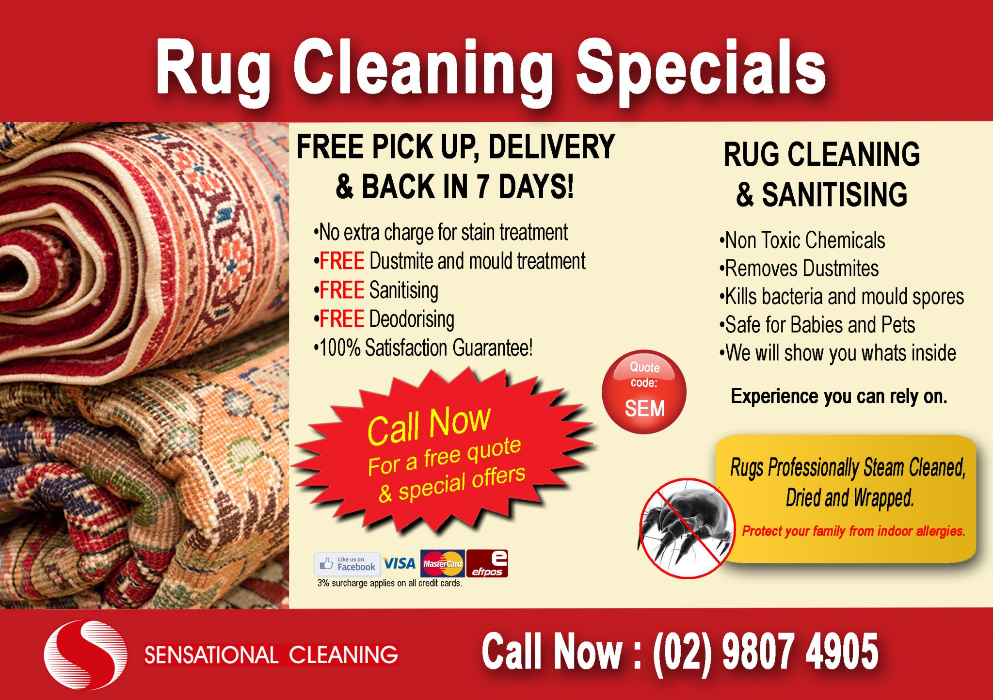 Rug Cleaning Sydney, Rug cleaning services Sydney, Mobile rug cleaners